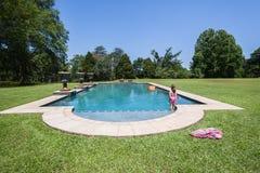 Girl Pool Summer Royalty Free Stock Photo