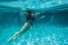 Girl Pool Royalty Free Stock Photo