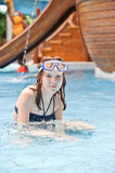 Girl in the pool Royalty Free Stock Photography