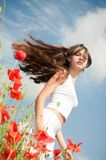 Girl in poppies Stock Photo