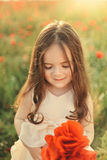 Girl with poppies Royalty Free Stock Photography