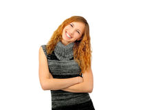 Girl portrait. On a wite background Stock Photography