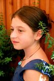 Girl portrait. Portrait of a young girl wearing a necklace Royalty Free Stock Image