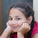 Girl portrait. Portrait of a smiling girl Royalty Free Stock Photo