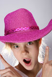 Girl portrait. Girl with carnival hat portrait Royalty Free Stock Image