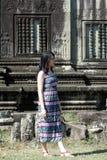 Girl Portrait at Angkor Wat, Siem Reap,  Cambodia Royalty Free Stock Photos