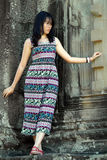 Girl Portrait, Angkor Wat, Siem Reap,  Cambodia Stock Photo