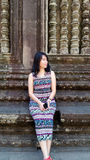 Girl Portrait, Angkor Wat, Siem Reap,  Cambodia Royalty Free Stock Images