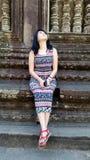 Girl Portrait, Angkor Wat, Siem Reap,  Cambodia Royalty Free Stock Photography