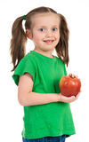 Girl portrait with apple Royalty Free Stock Photography