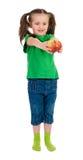 Girl portrait with apple Stock Photo