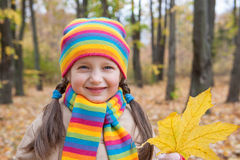 Girl portrait in autumn Royalty Free Stock Images