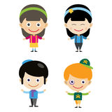 Girl portrait fun happy boy young expression cute teenager cartoon character little kid vector illustration. Stock Photos