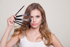 Girl portrait makeup Stock Image