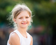 Girl portrait outdoors Royalty Free Stock Photos