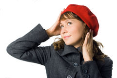 Girl portrait outer clothing Stock Images