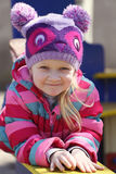 Girl portrait at the playground Royalty Free Stock Image