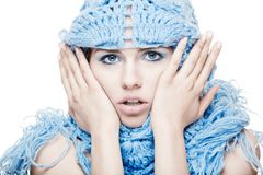 Girl portrait with a scarf Royalty Free Stock Images