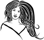 Girl portrait in style Art Nouveau Royalty Free Stock Photos