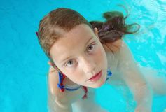 Girl portrait after swim Stock Photography