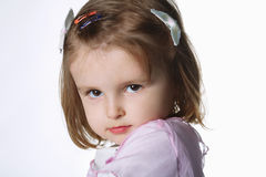 Girl portrait on white background Stock Photography