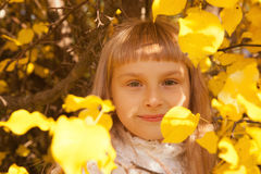Girl portret in autumn Stock Photography
