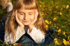 Girl portret in autumn Royalty Free Stock Photos