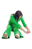 The girl in a pose yoga Stock Photos