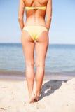Girl posing on the beach Royalty Free Stock Photo