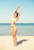 Girl posing on the beach Royalty Free Stock Photography