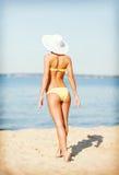Girl posing on the beach Stock Photo