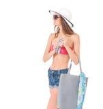 Girl posing in bikini Royalty Free Stock Images