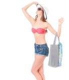 Girl posing in bikini Royalty Free Stock Photo