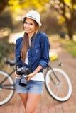 Girl posing camera Royalty Free Stock Photography