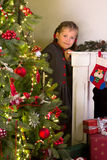 Girl posing with christmas Stock Photography