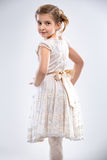 Girl posing in dress royalty free stock photography