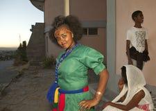 A girl posing, Ethiopia Stock Image