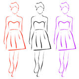 Girl posing in fashionable clothing. Girl posing in fashionable outfit Royalty Free Stock Image