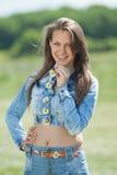 Girl posing in field Stock Image