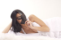 Girl posing with the mask Royalty Free Stock Images