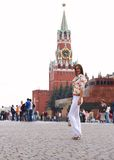 Girl posing in Moscow Royalty Free Stock Photos