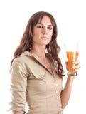 Girl posing natural juice Stock Photos