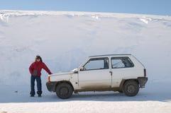 Girl posing near a Car Stock Image
