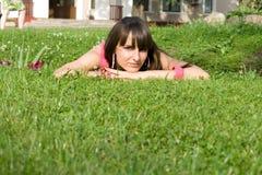 Girl posing outdoor Stock Photography