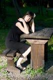 Girl posing outdoor Stock Image
