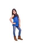 Girl posing over white Royalty Free Stock Photo