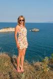 Girl Posing at Sea Royalty Free Stock Photography