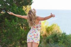 Girl Posing at Sea Royalty Free Stock Photos