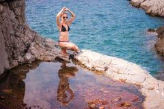 Girl Posing at Sea Royalty Free Stock Image