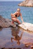 Girl Posing at Sea Stock Image